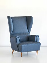 Vintage Sessel mit Rubelli Bezug von Paolo Buffa,