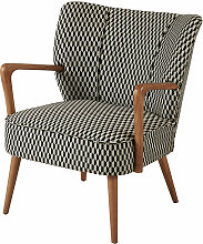 Vintage-Sessel mit schwarzen und weißen