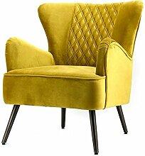 Vintage Sessel Polstersessel DAISY II gelb Loungesessel Clubsessel Fernsehsessel