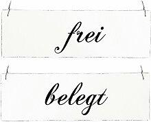 Vintage Shabby Schild Türschild FREI - BELEGT