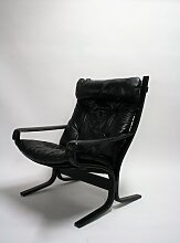 Vintage Siesta Sessel aus Leder von Ingmar Relling