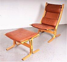 Vintage Siesta Sessel mit Ottomane von Ingmar