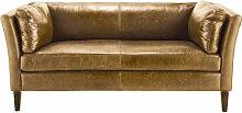 Vintage-Sofa 2/3-Sitzer aus Leder, camelfarben