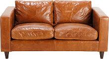 Vintage-Sofa 2-Sitzer aus Leder, camelfarben Henry