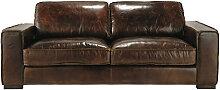 Vintage-Sofa 3-Sitzer aus Leder, braun Colonel