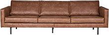 Vintage-Sofa Braunes Leder 3 Sitzplätze ASPEN -