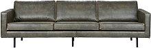Vintage-Sofa Leder Grün 4 Sitzplätze ASPEN -