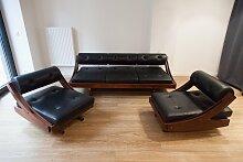 Vintage Sofa mit 2 Sesseln von Gianni Songia für