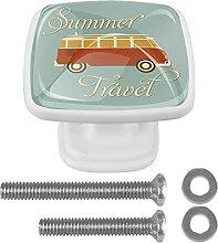 Vintage Sommer Reise Bus Kommode Griff mit