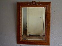 Vintage Spiegel mit geschnitztem Holzrahmen