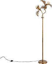 Vintage Stehlampe Gold 2-Licht - Botanica