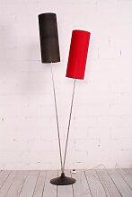 Vintage Stehlampe mit 2 zylindrischen Schirmen,