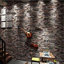 Vintage Stein Ziegel Tapete Für Wände Rolle 3D