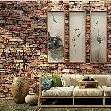 Vintage Stein Ziegelstein Tapete Für Wände