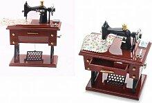 Vintage-Stil Mini-Nähmaschine Mechanische Musik Music Box Haus Dekoration Elemente Individuelle Geschenk