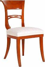 Vintage Stuhl aus Kirschholz im Biedermeier Stil