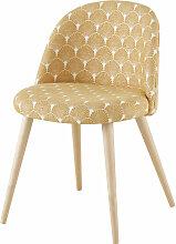 Vintage-Stuhl aus massivem Birkenholz, bedruckt