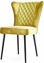 Vintage Stuhl DAISY gelb Polsterstuhl Sessel Esszimmer Esszimmerstuhl