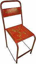 Vintage Stuhl Easy Stapelbar Rot Shabby Chic