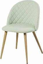 Vintage-Stuhl hellgrün Mauricette