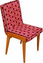 Vintage Stuhl mit Himbeerfarbenem Bezug