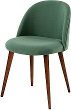 Vintage-Stuhl mit Massivbirke, grün Mauricette