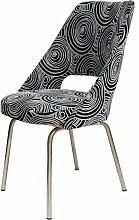 Vintage Stuhl mit Schwarzweißem Bezug