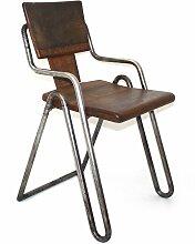 Vintage Stuhl mit Stahlrohrrahmen von Peter