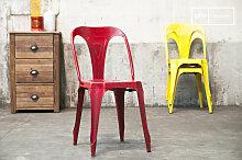 Vintage-Stuhl Multipl's Rot boho
