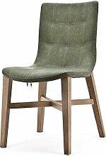 Vintage Stuhl NEBA grün Polsterstuhl Sessel