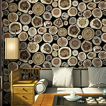 Vintage Style Design 3D Holz Tapete Für