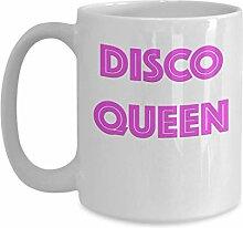 Vintage Style Disco Queen 1970s Kaffeebecher
