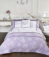 Vintage Style Lila Single Quilt Bettbezug und Kissenbezüge Bett Set Bettwäsche Bettwäsche