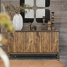 Vintage-Tapete mit Holzmaserung, selbstklebende