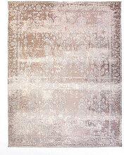 VINTAGE-TEPPICH 115/170 cm Beige, Silberfarben