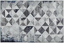 VINTAGE-TEPPICH 133/190 cm Blau, Grau