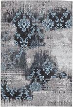 VINTAGE-TEPPICH 170/240 cm Blau, Grau