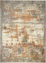 VINTAGE-TEPPICH 200/290 cm Silberfarben, Currygelb