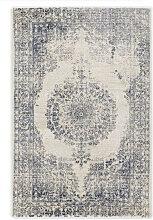 VINTAGE-TEPPICH 240/340 cm Blau, Creme