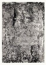 VINTAGE-TEPPICH 65/130 cm Dunkelgrau, Grau,