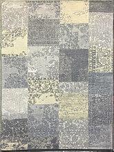 VINTAGE-TEPPICH 80/250 cm Gelb, Grau
