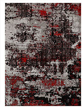 VINTAGE-TEPPICH 90/160 cm Grau, Rot