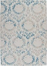 Vintage-Teppich Blau - Austria Krems (80 x 300 cm)