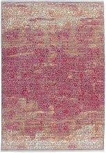 Vintage Teppich in Rot und Beige Kurzflor