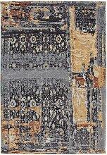 Vintage Teppich mit abstraktem Muster Dunkelblau