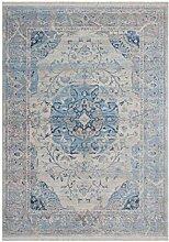 Vintage Teppich Mit Fransen Shabby Look Teppiche