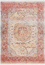 Vintage Teppich mit orientalischem Muster Bunt