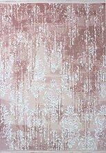 Vintage Teppich MOZART Altrosa Weiß Größe 80 x