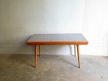 Vintage Tisch aus Eiche mit Doppel-Tischplatte aus