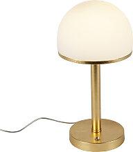 Vintage Tischleuchte Gold inkl. LED und